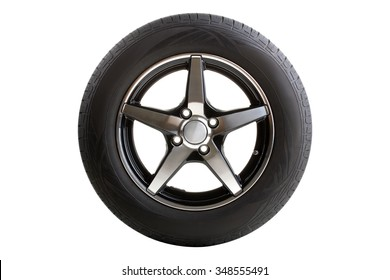 new tire isolated on white background
