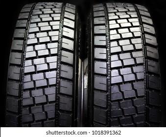 New tires of trucks