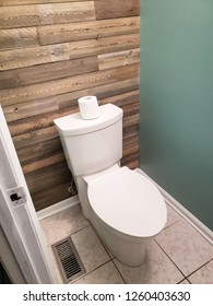 New Toilet Installed in Small Bathroom