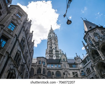 The New Town Hall in city Munich, Germany  .