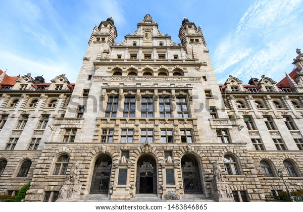 New Town Hall Leipzig Wellknown Building Buildings Landmarks Stock Image 1483846865