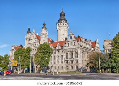 New town hall (Neues Rathaus) in Leipzig, Germany