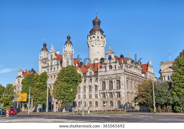 New Town Hall Neues Rathaus Leipzig Stock Photo Edit Now 361065692