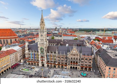 New Town Hall on Marienplatz square in Munich, Germany