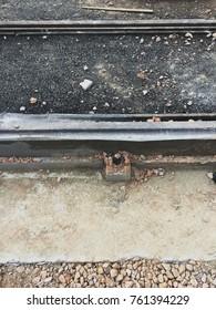 New tram car rails mounting