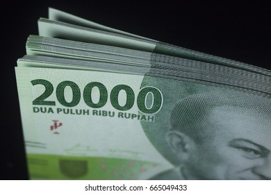 New two thousand rupiah money - Indonesia currency - Cash finance payment macro photography
