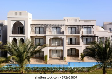 new typical building of the hotel in Egypt or Turkey