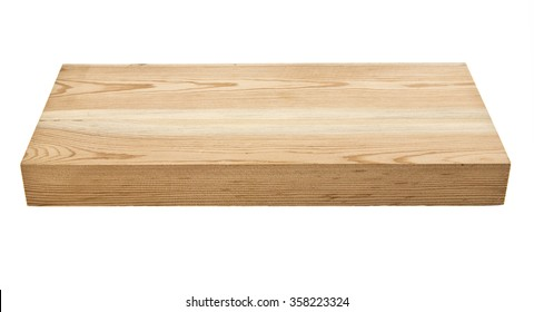 new unused wooden Board isolated on white background