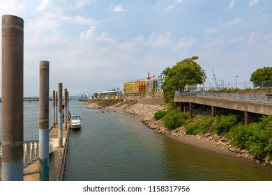 New urban commercial and residential construction in downtown Vancouver Washington waterfront