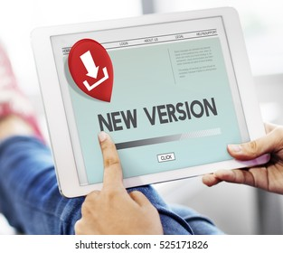 New Version Download Application Concept