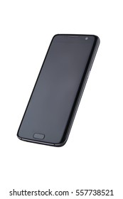 New version of modern smartphone with blank black screen