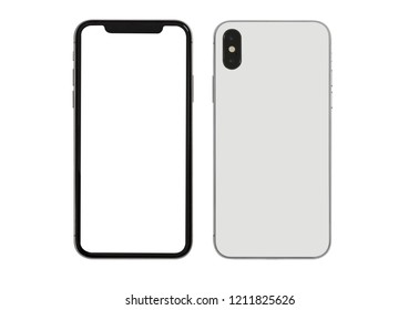 New version of slim smartphone  with blank white screen