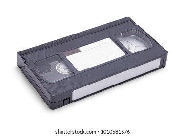 New VHS Tape with Copy Space Isolated on a White Background.