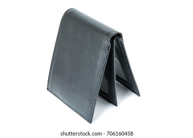 New wallet on white background