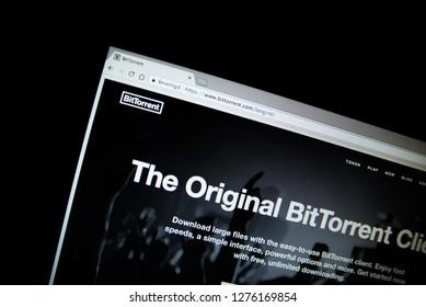 new website for crypto currency ' Bit torrent'. Zeewolde - Netherlands - 6 jan 2019