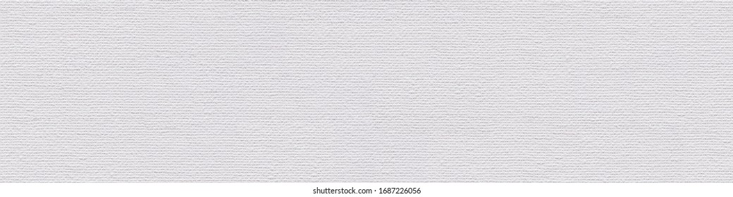 New white acrylic canvas background as part of your unique classic style, texture for design. Seamless panoramic texture.