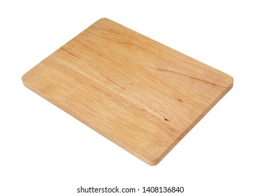 New wooden cutting board isolated on white
