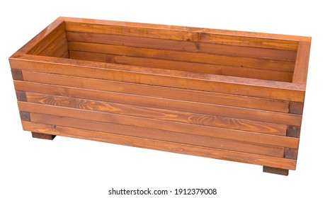 the new Wooden planter box over the white background