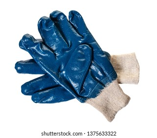 new work gloves on white isolated background