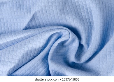 new wrinkled textile fabric blue color