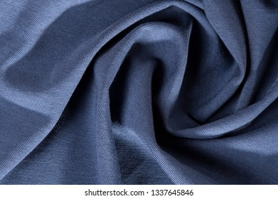 new wrinkled textile fabric gray blue color