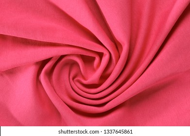 new wrinkled textile fabric red color
