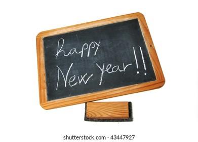 new year 2010 drawn on a blackboard