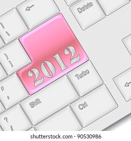new year 2012 concept - computer keyboard with 2012 keypad