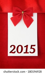 New year 2015 greeting card with copy space