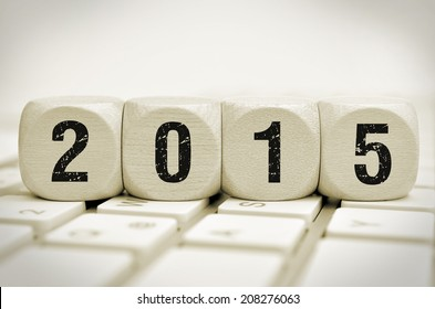 new year 2015 on a keyboard