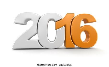 New Year 2016 (clipping path included)
