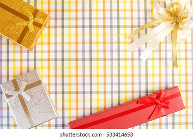 New year 2017, The gifts on the pattern background