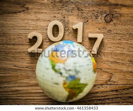 Round Globe Map.New Year 2017 Round Globe Map Stock Photo Edit Now 461358433