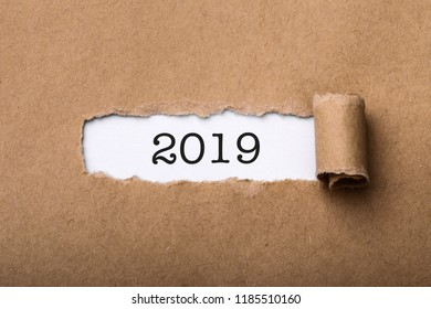 New Year 2019 concept background.