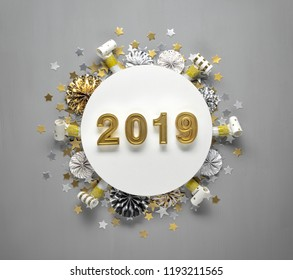 New year 2019 decoration