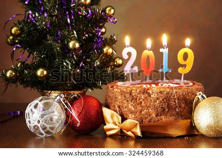 New Year 2019 Still Life Chocolate Stock Photo Edit Now 324459368