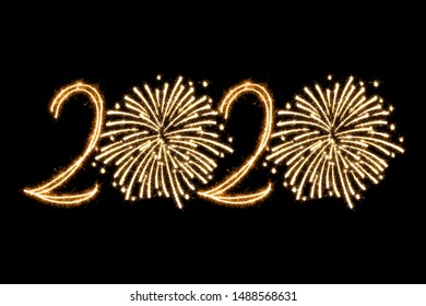 New Year 2020 with Sparklers Squib