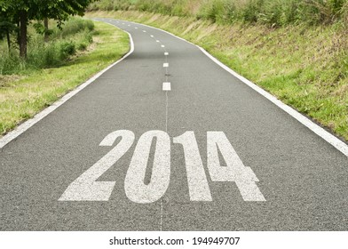new year abstract road background