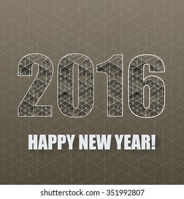 New Year background with geometric pattern.