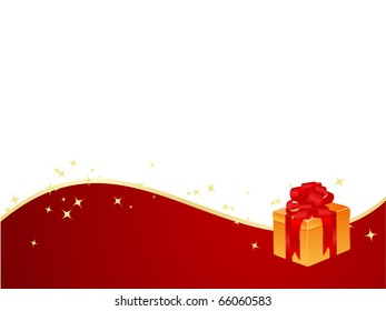 New year background with magic stars and gift box.