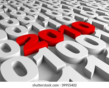 New year in binary code