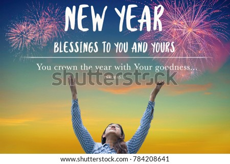 New Year Blessings You Yours Girl Praying Stock Photo (Edit Now ...