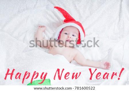 fa8fa7c2d1b01 New Year Card Babies Santa Claus Stock Photo (Edit Now) 781600522 ...