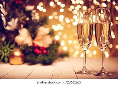 New Year card. Billet. Decoration.