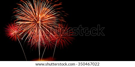 new year celebrate with fireworks lighting as background texture