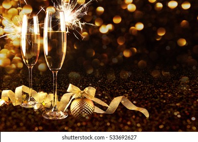 new year celebration new year and christmas background with champagne