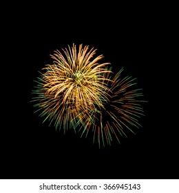 New Year celebration fireworks, Vibrant color effect