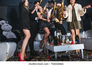 New year celebration party in the club