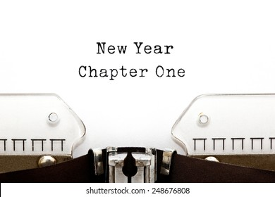 New Year Chapter One printed on an old typewriter.