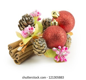 New Year, Christmas balls, decorations and gifts, holiday traditions